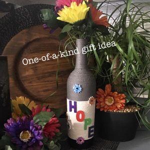 ⬇️12/14 only🦋Handmade decorative wine bottle